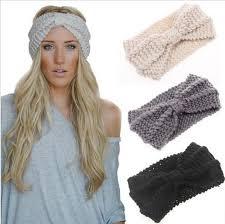 headband ear warmer 1 pc women crochet bow knot turban knitted wrap hairband