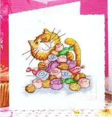 free shipping diy cross stitch christmas card greeting card
