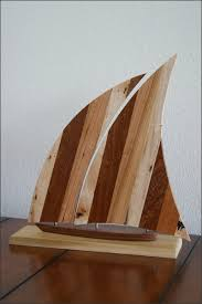 handcrafted wood sailboat