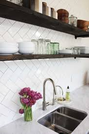 Mirror Backsplash In Kitchen by 25 Best Herringbone Backsplash Ideas On Pinterest Small Marble
