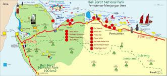bali indonesia map bali barat national park and pemuteran menjangan area map bali