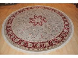Floral Round Rugs 7 U0027 X 7 U0027 Round Persian Rug Floral Made Out Of 100 Natural Silk