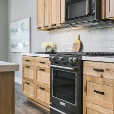 black handles on oak kitchen cabinets photos hgtv