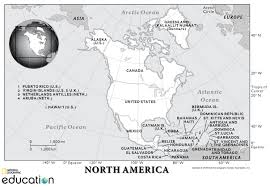 Central And South America Blank Map by North America Physical Geography National Geographic Society