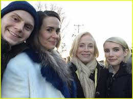 american horror story cast celebrates thanksgiving together