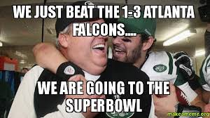 Falcons Memes - we just beat the 1 3 atlanta falcons we are going to the