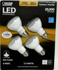 65 Watt Dimmable Led Flood Light Feit Electric 65 Watt Led Br30 Flood Light Dimmable 2 Bulb Soft