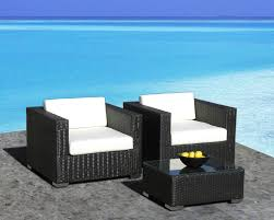 Best Outdoor Wicker Patio Furniture by Amazon Com Outdoor Patio Furniture All Weather Wicker 3 Pc Arm