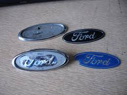Classic Ford Truck Emblems - colored ford emblem any color easy do it yourself