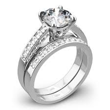 wedding set rings flush fit diamond wedding set 1768