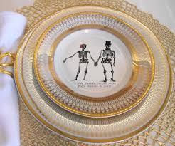 and groom plates foodsafe skeleton wedding plates skeleton