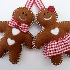 make gingerbread felties decos