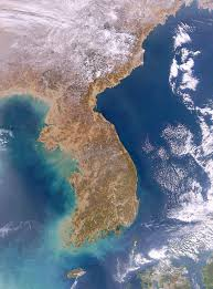 Satellite Weather Map Large Detailed Satellite Map Image Of Korean Peninsula Vidiani