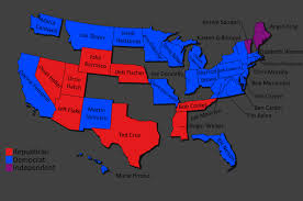 Midterm Election Map by Senate Seats Up For Re Election In 2018 5400x3586 Mapporn