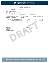 child travel consent form usa child travel consent usa legal