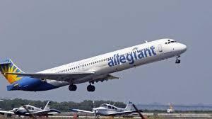 North Dakota travel flights images Allegiant air flight runs low on fuel over closed airport makes jpg