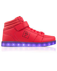 light up shoes phoenix red high top led shoes electric styles