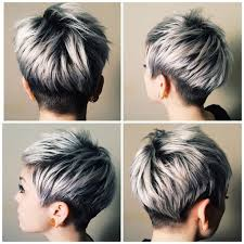 pics of platnium an brown hair styles best 25 short silver hair ideas on pinterest grey bob grey