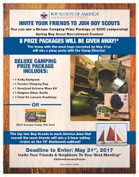 Eagle Scout Invitation Cards Spring Boy Scout Recruitment Incentive Plan