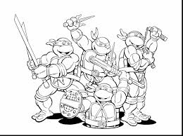 wonderful teenage mutant ninja turtles coloring pages ninja