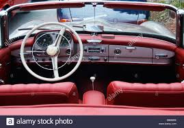 mercedes classic convertible old mercedes 190 sl convertible interior view stock photo