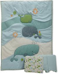 Whale Crib Bedding Migi Whale Crib Bedding By Bananafish Baby Bedding And