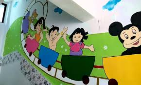 Wall Paintings Designs by Wall Painting Designs For Play India Youtube