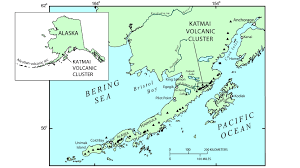 Alaska Map Images by Avo Image 42601 Katmai Novarupta