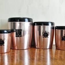 fashioned kitchen canisters best copper canister set products on wanelo