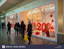 black friday sale stores zara home store at intu trafford centre manchester uk 25th stock