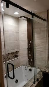 Shower Door Molding Shower Curtain Instead Of Shower Door Bathroom Modern With Mirrors