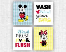 Mickey And Minnie Bathroom Disney Bathroom Etsy