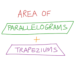 Area Of A Parallelogram Worksheet Area Of Parallelograms And Trapeziums Math Geometry Area
