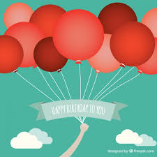 free balloons birthday card with balloons free vector 123freevectors