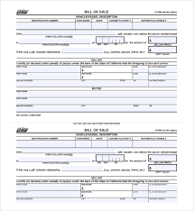 bill of sale for vehicle sample usa bill of sale bill of sale