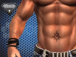 second marketplace tribal sun on belly button