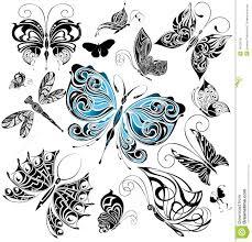 big set of tattoo butterflies 1 royalty free stock photos image