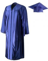 cap and gowns shiny royal blue cap gown graduationsource