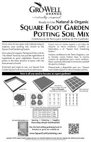 Computing Square Footage by Amazon Com Mel U0027s Mix 33002 Potting Soil Mix For Square Foot