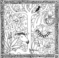free coloring page of the rainforest powerful tropical forest coloring pages pretty rainforest animals