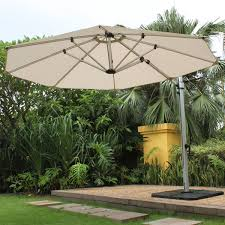 11 Cantilever Patio Umbrella With Base by 11 Ft Octagon Aurora Acrylic Cantilever Umbrella By Frankford