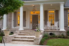 grapevine mortar joint porch traditional with beige shutters