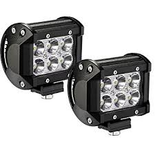 Led Lights Amazon Amazon Com Yitamotor 2pack 18w 4 U0027 U0027 Square Led Work Light Bar Spot