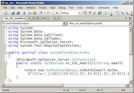 email validation pattern regex sql server function to validate email addresses