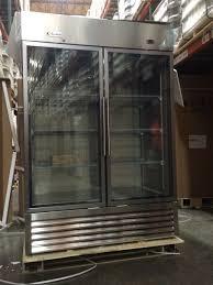 amazon com genkraft commercial refrigerator double glass door