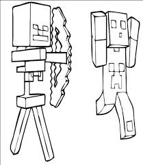 minecraft creeper minecraft coloring pages