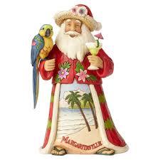 margaritaville home decor jim shore margaritaville merry santa with parrot figurine