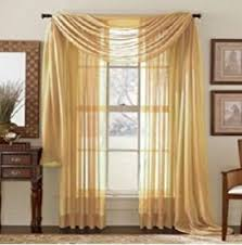 Buy Valance Curtains Amazon Com Monagifts Gold Scarf Voile Window Panel Solid Sheer