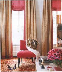 Dorm Room Window Curtains Peony Pink Curved Roman Shade With Pink And Gold Striped Panel