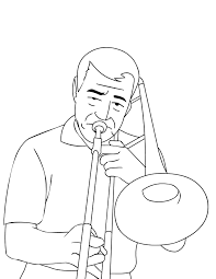 trombone coloring page handipoints